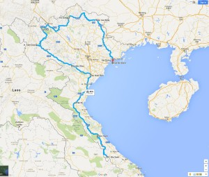 Motorcycling in Vietnam MAP2